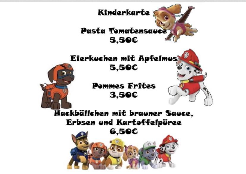 genussreich Retaurant Leipzig Kinderkarte